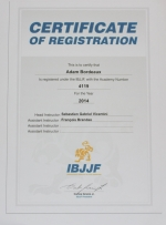 Affiliation du club ADAM à l'IBJJF