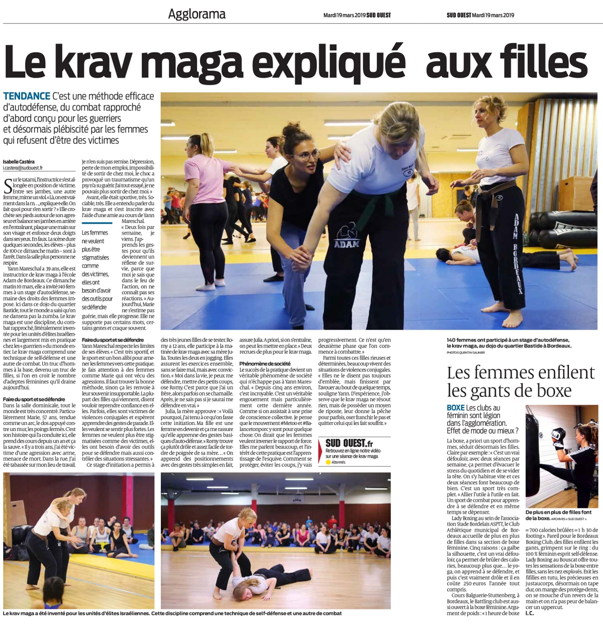 article sud-ouest stage girls gratuit